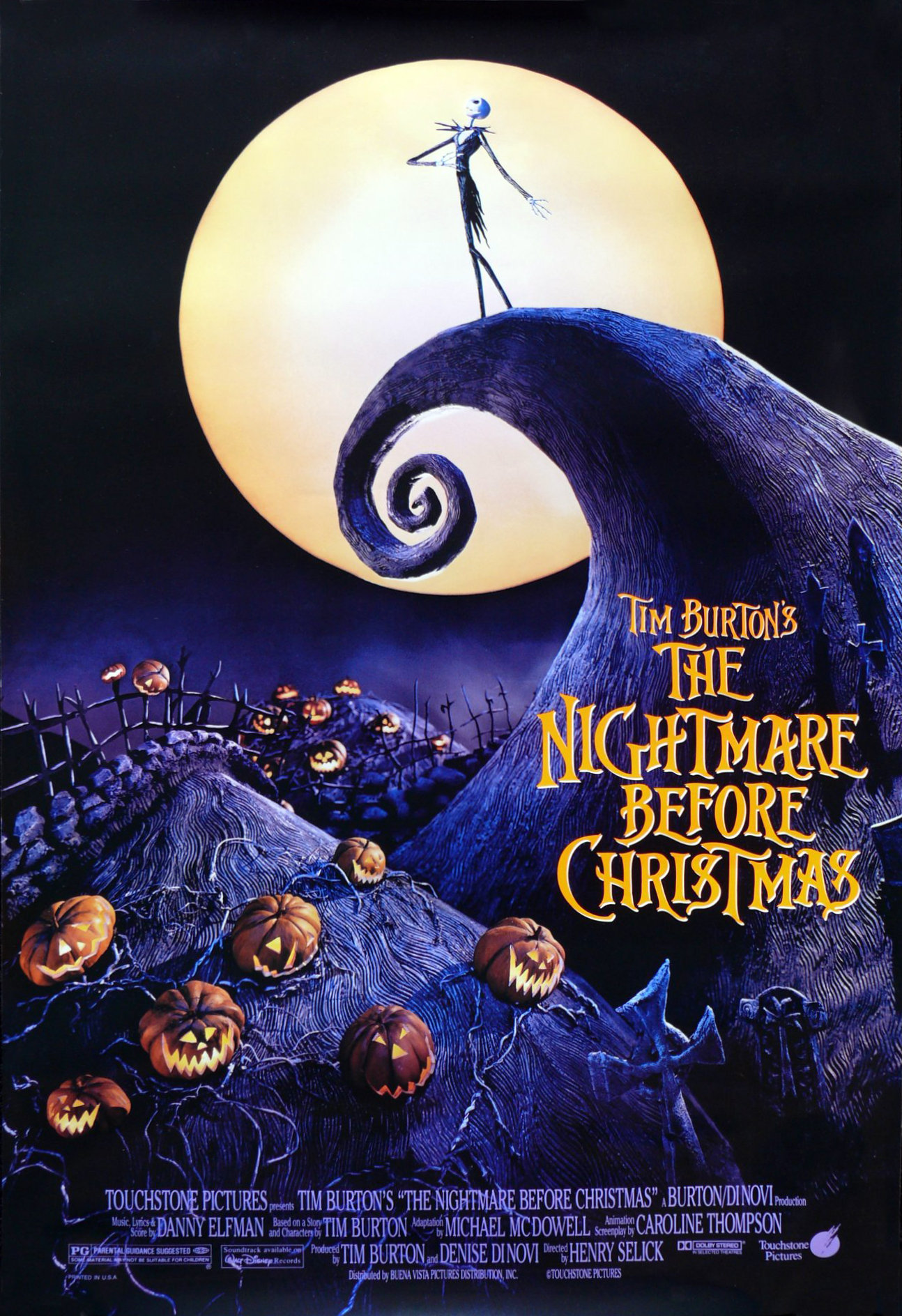 ... the nightmare before christmas and while the directorial reins were